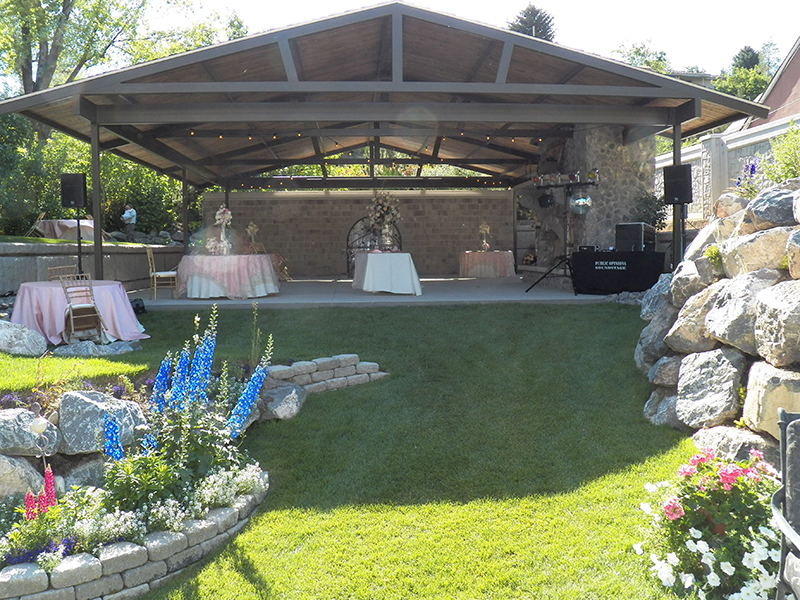 Etonnant Backyard Pavilion, Wedding Sound System   Orem, Utah ...