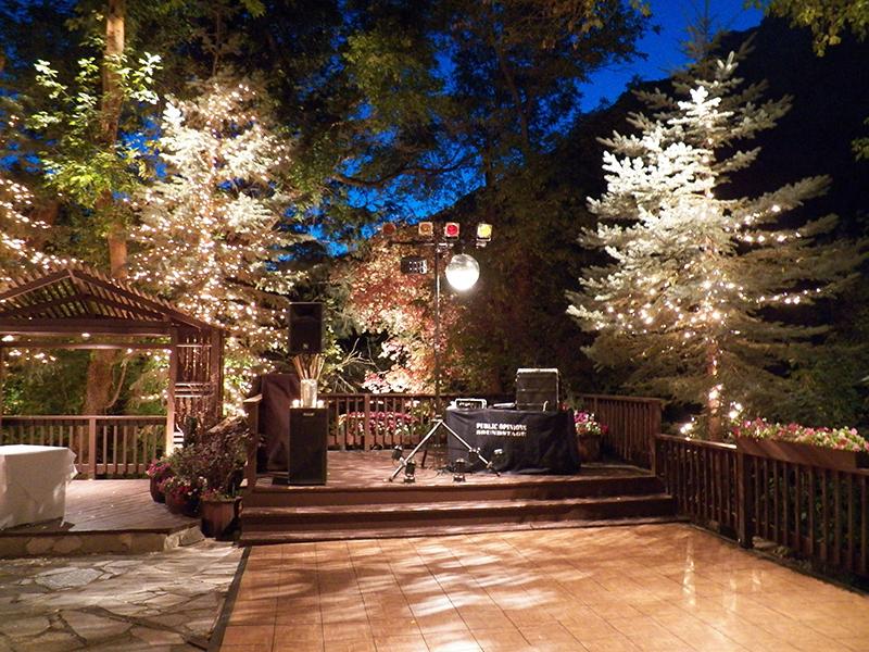 Lit Up Patio With Dance Floor, Reception Sound System   Millcreek Inn, Utah  ...